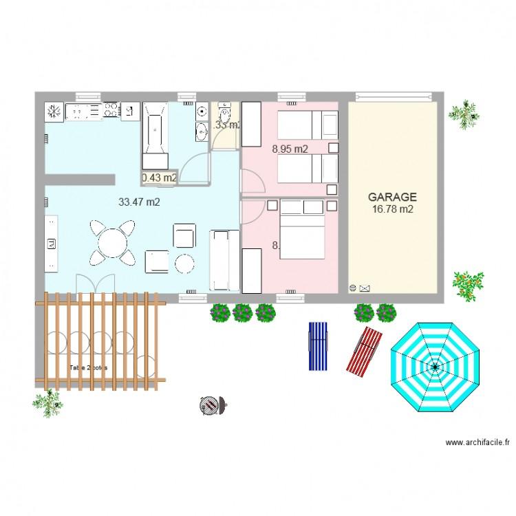 plan de maison de 60m