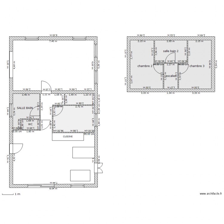 plan 110 metres carr plan 8 pi ces 52 m2 dessin par loreta34. Black Bedroom Furniture Sets. Home Design Ideas