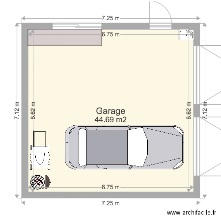garage double plan 1 pi ce 45 m2 dessin par mascott56. Black Bedroom Furniture Sets. Home Design Ideas