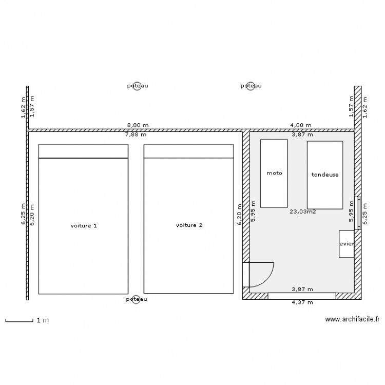 Plan De Garage Bois Simple Stunning Garage En Bois Brico Depot Plan