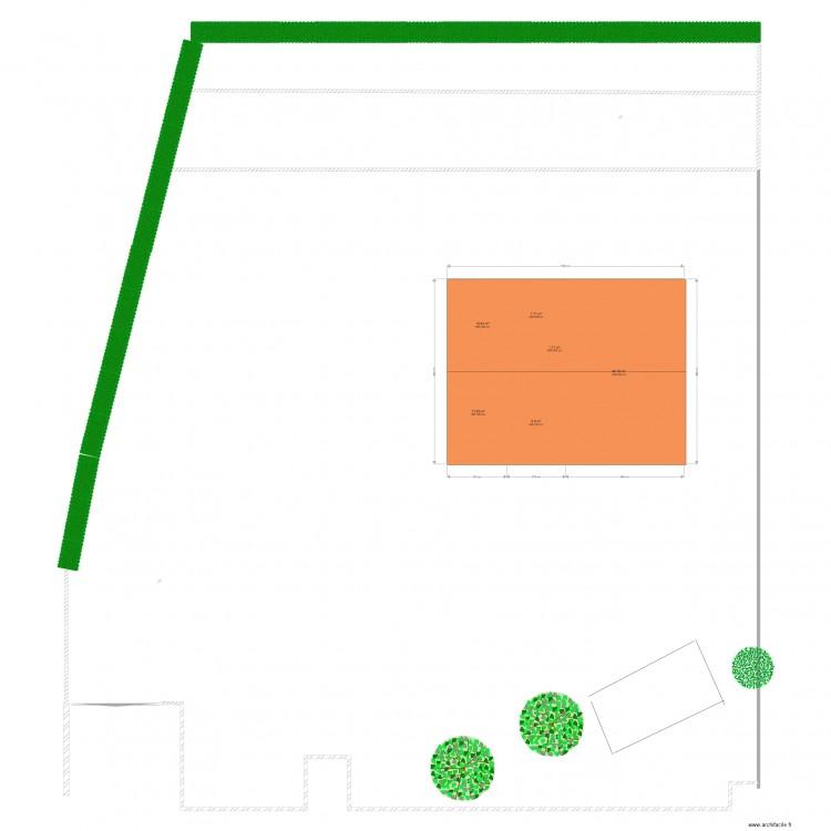 Plan de dessus apres travaux abri de jardin plan 6 pi ces 87 m2 dessin par vidon - Abri de jardin declaration de travaux ...