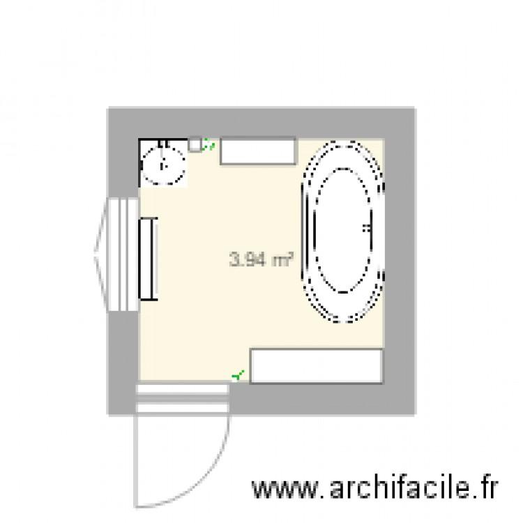 Simule1 salle de bain plan 1 pi ce 4 m2 dessin par axelle14 for Salle de bain 4 m2