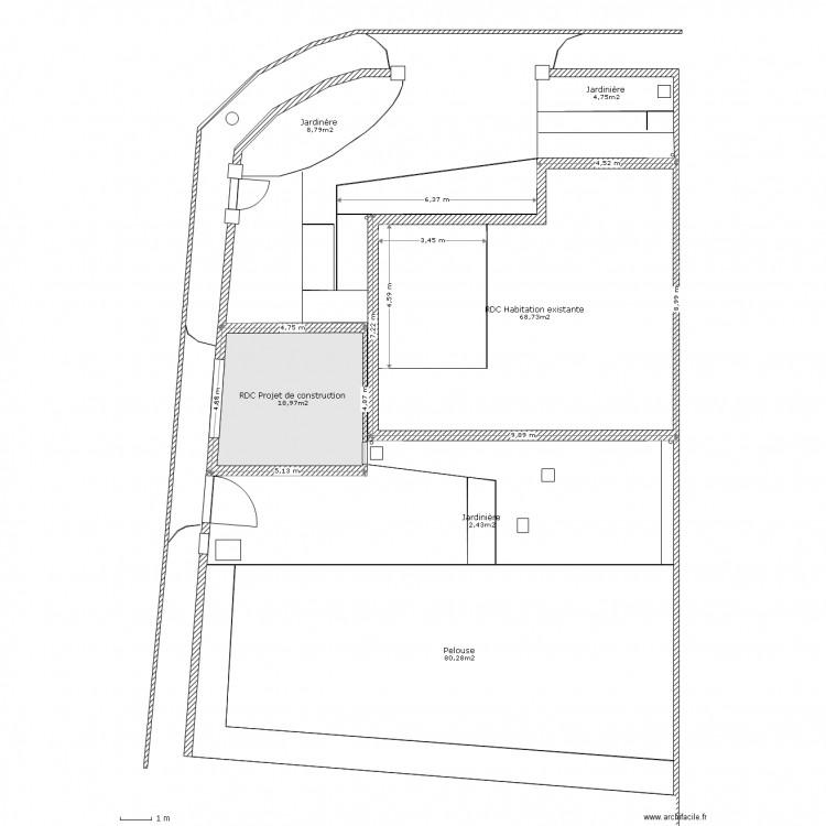 Plan de masse dp2 plan 7 pi ces 205 m2 dessin par fred32 - Dessiner un plan de masse ...