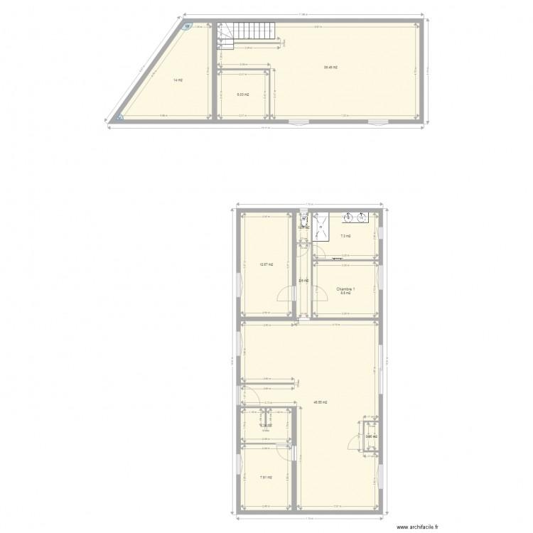 Salle de bain et wc plan 12 pi ces 147 m2 dessin par dimitri76190 - Wc petite taille ...