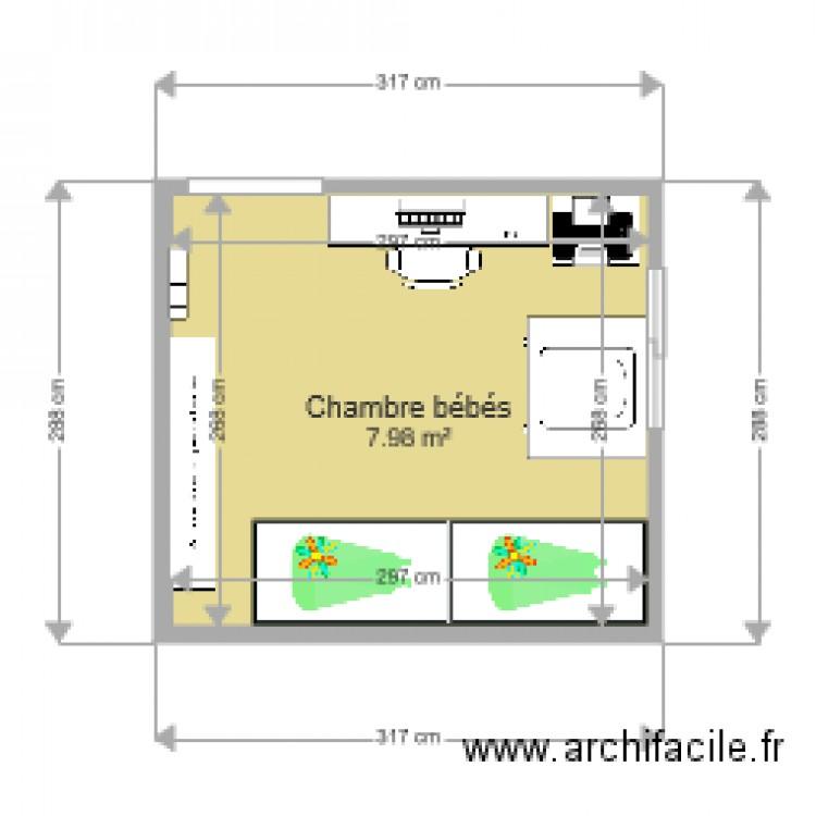 Chambre Bebe Plan 1 Piece 8 M2 Dessine Par Lililoulou