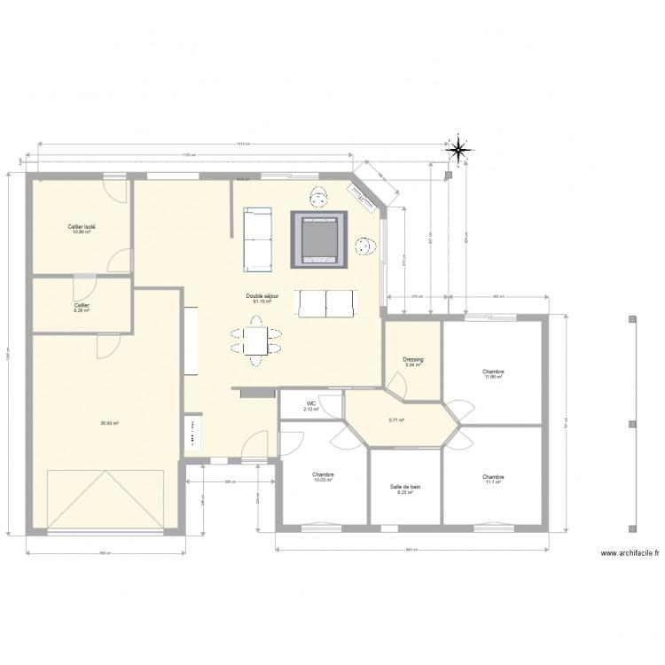 basse goulaine plan 11 pi ces 166 m2 dessin par herve444. Black Bedroom Furniture Sets. Home Design Ideas