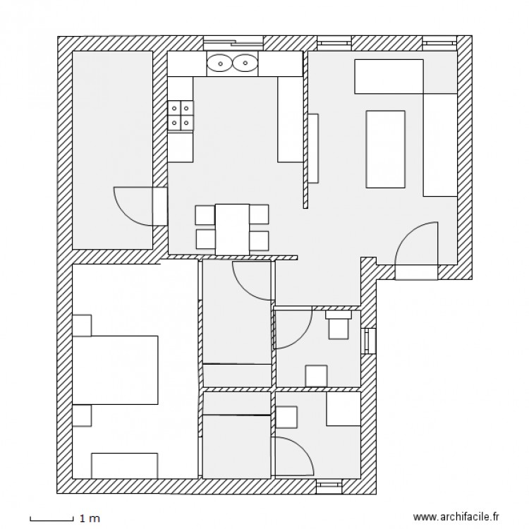 Plan de maison simple f1 pictures to pin on pinterest - Plan de maison simple ...