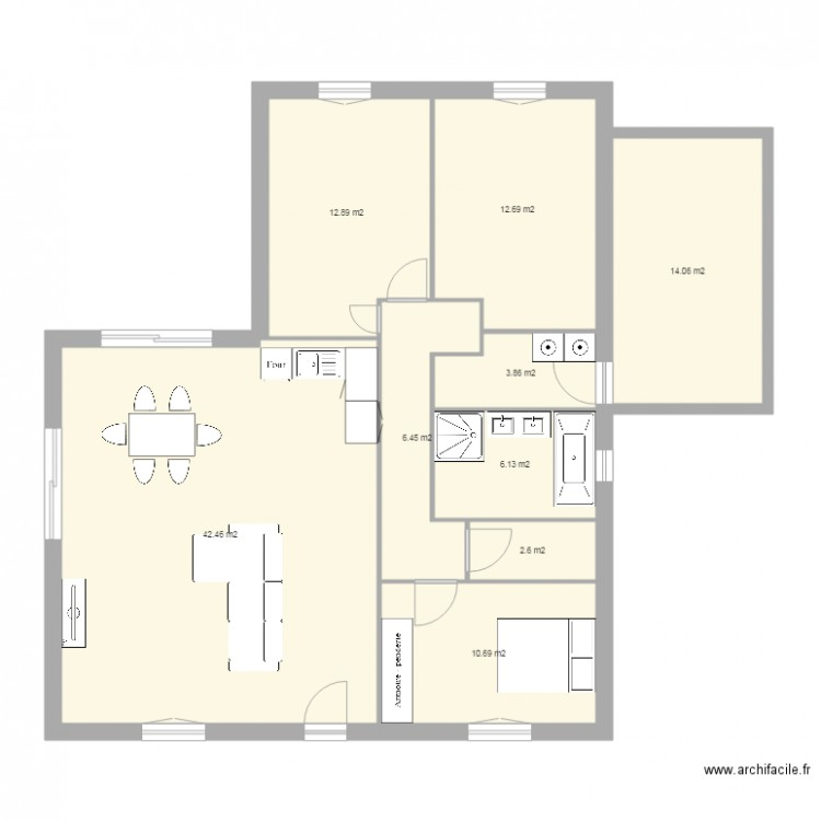 bic construction plan 9 pi ces 112 m2 dessin par lafadeze. Black Bedroom Furniture Sets. Home Design Ideas