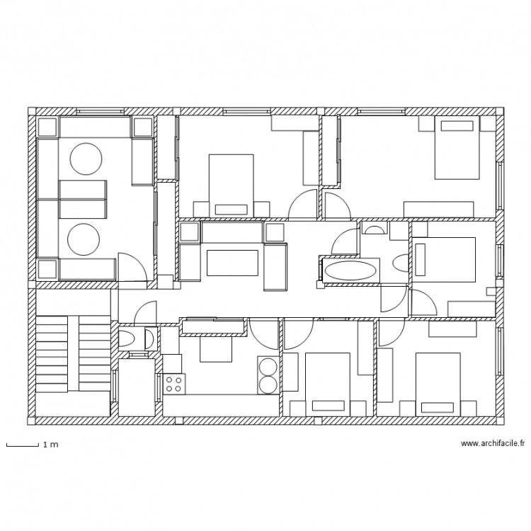 Maison Maroc Plan 14 Pi Ces 119 M2 Dessin Par Xino4