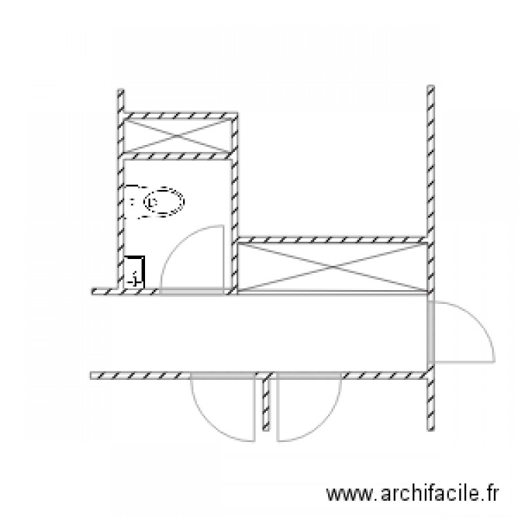 sdb devoir ergonomie plan 2 pi ces 2 m2 dessin par duddey. Black Bedroom Furniture Sets. Home Design Ideas