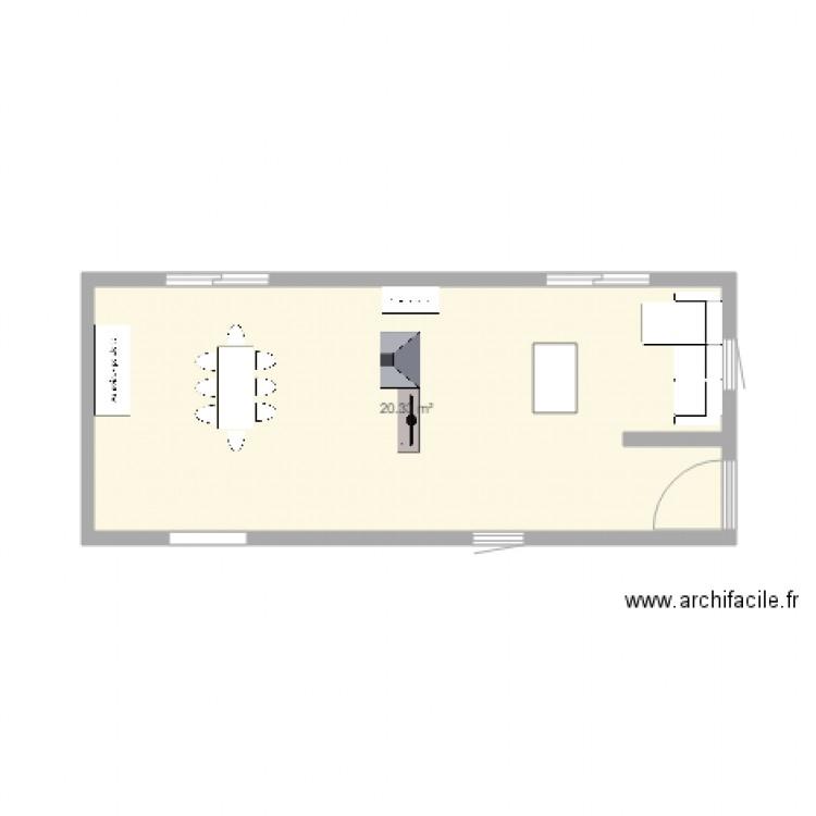Ma maison plan 1 pi ce 20 m2 dessin par nora1507 for Dessine ma maison gratuitement