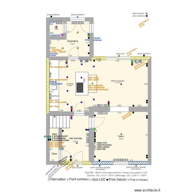 plan de maison basse 6 pièces