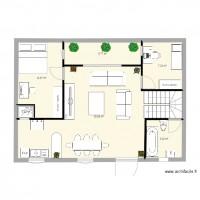 Plan maison et appartement de 6 pièces de 70 à 90 m2