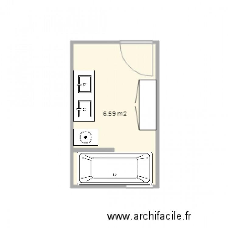 Salle de bain 2 plan 1 pi ce 7 m2 dessin par speegaw for Salle de bain 2 m2