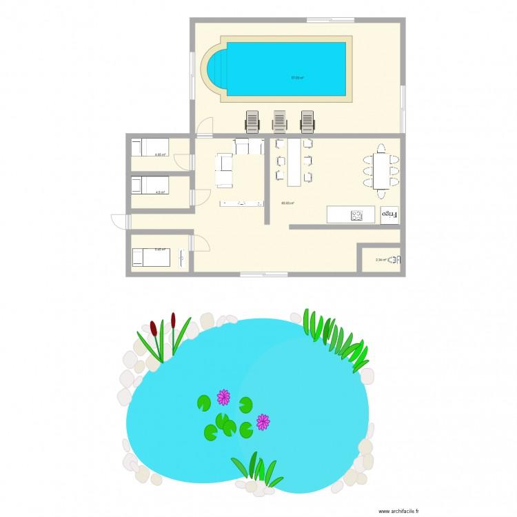 Che mois plan 6 pi ces 140 m2 dessin par tiag82 - Consommation electrique moyenne maison 140 m2 ...