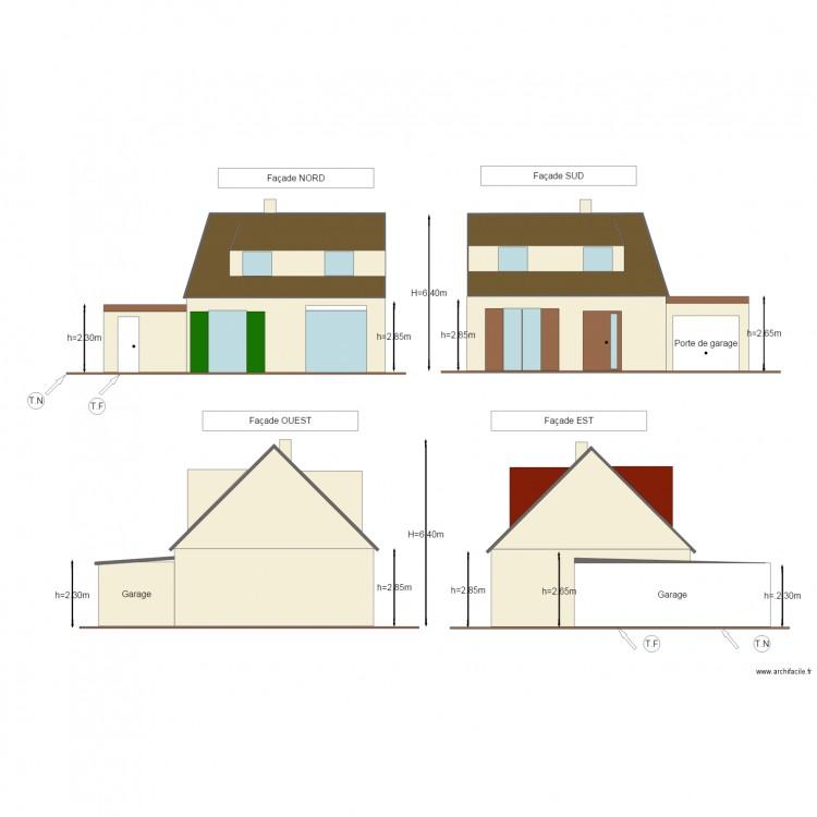 Dp4 plan de fa ades plan 2 pi ces 40 m2 dessin par bitutu for Dessiner un plan de facade
