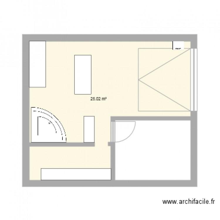 garage plan 1 pi ce 25 m2 dessin par benoit. Black Bedroom Furniture Sets. Home Design Ideas
