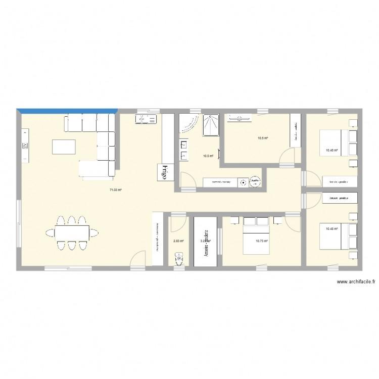Maison plan 8 pi ces 130 m2 dessin par speed42 - Consommation electrique moyenne maison 140 m2 ...