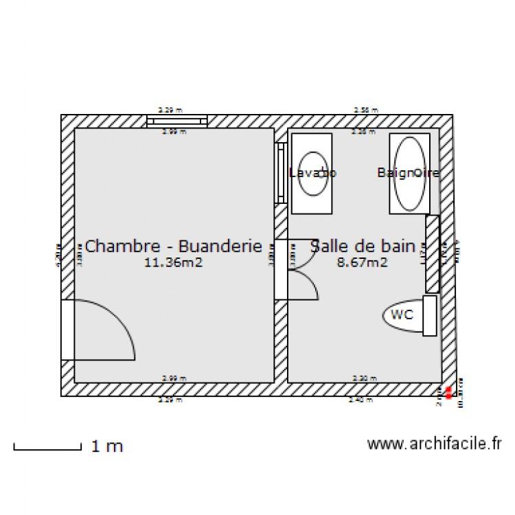 salle de bain buanderie plan de 2 pices et 20 m2