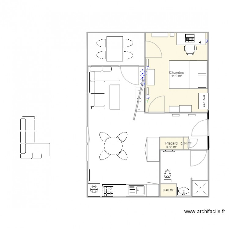 plan appartement f 2