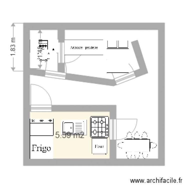 Ma maison de r ves plan 1 pi ce 6 m2 dessin par ashoux for Dessine ma maison gratuitement