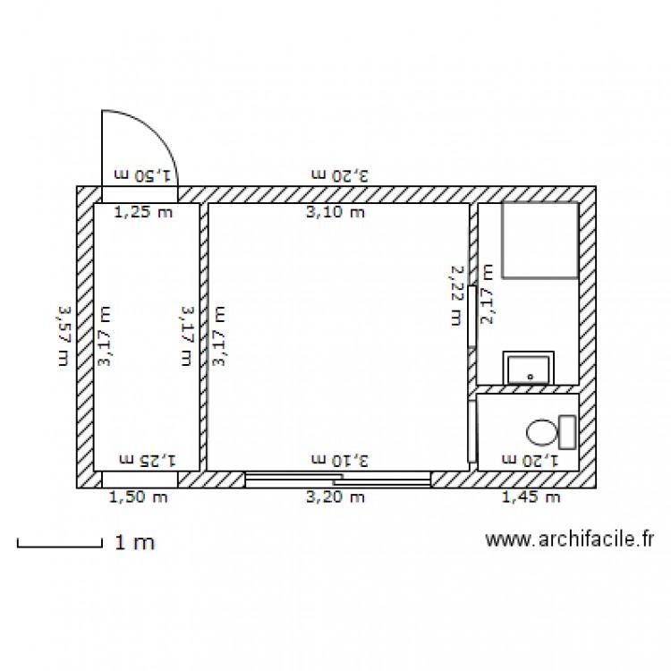 pool house plan 2 pi ces 16 m2 dessin par odavid3. Black Bedroom Furniture Sets. Home Design Ideas