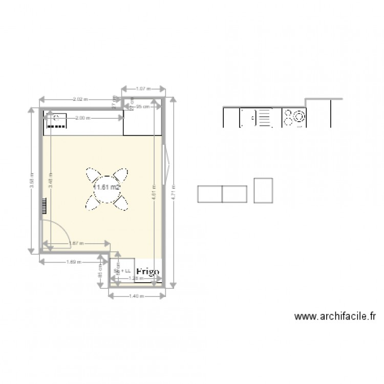 salle d eau 4m2 plan 1 pi ce 12 m2 dessin par pgm. Black Bedroom Furniture Sets. Home Design Ideas