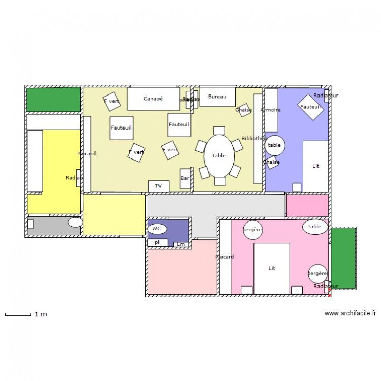 plan appartement plan 12 pi ces 82 m2 dessin par montignyp. Black Bedroom Furniture Sets. Home Design Ideas