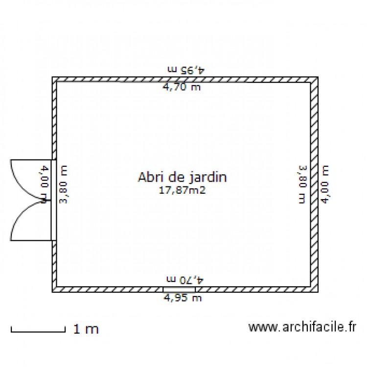 Abri de jardin 29400 plan 1 pi ce 18 m2 dessin par deun - Abri jardin grande taille ...