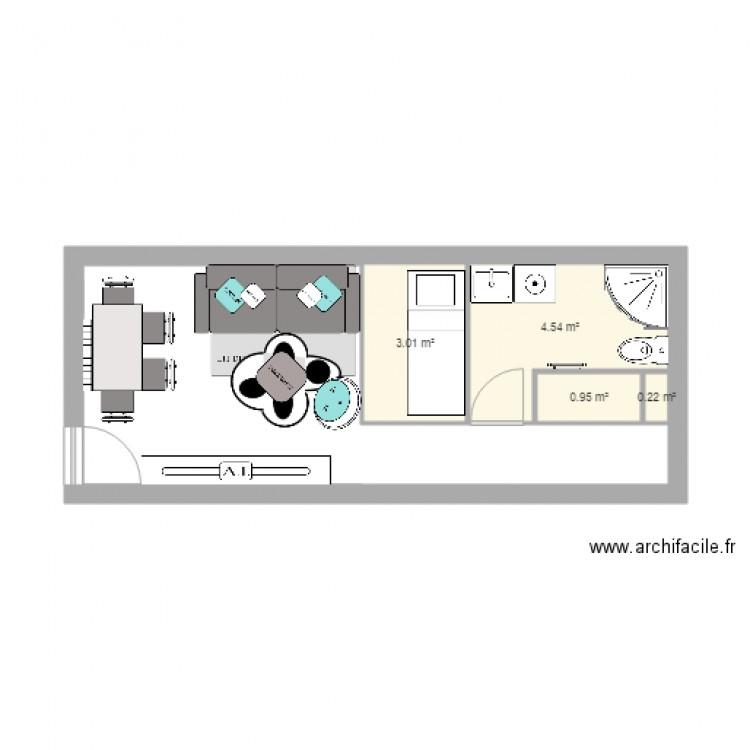 Plan 2 avec canap 3 plces clic clac plan 4 pi ces 9 m2 dessin - Ligne roset canape lit ...