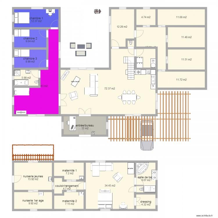 maison algeco avec étage Plan 22 pièces 324 m2 dessiné