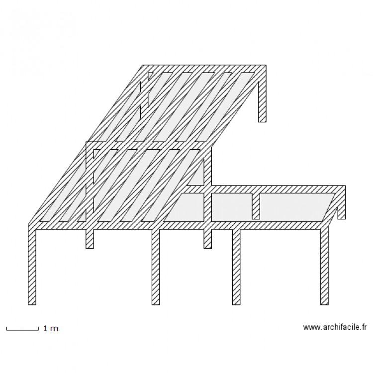 Ossature deck plage de piscine plan 19 pi ces 12 m2 for Plan pour deck de piscine
