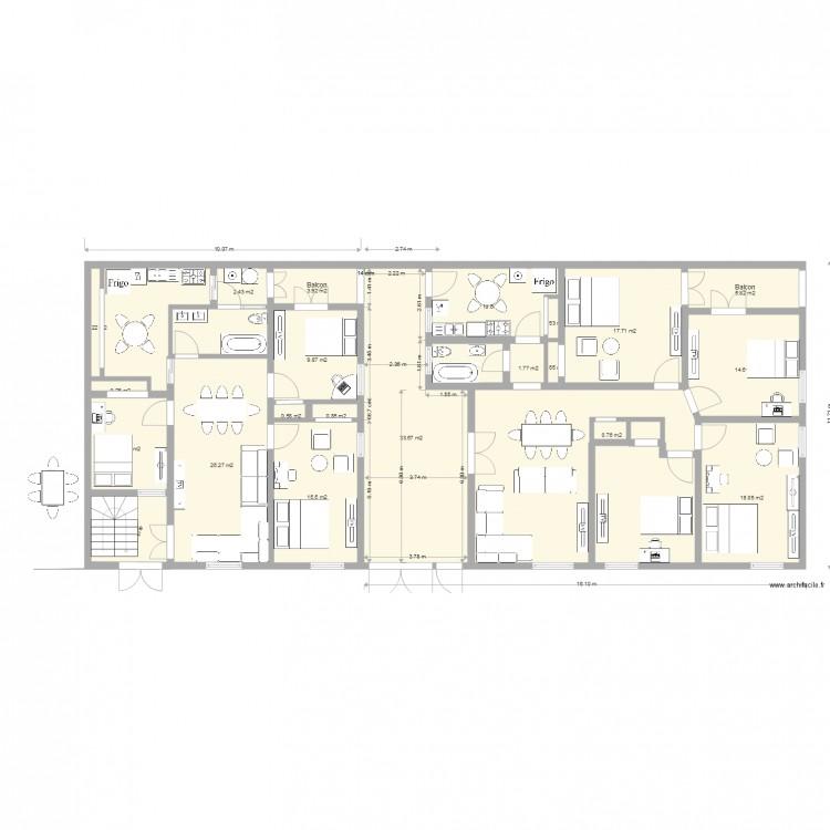 Mes maisons 3 plan 23 pi ces 479 m2 dessin par for Mes plans de maison