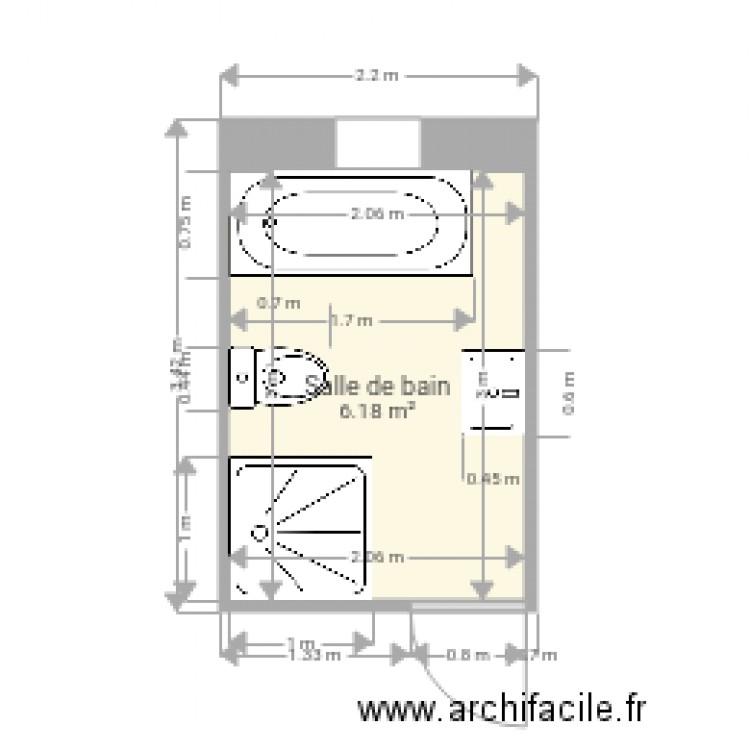 salle de bain plan 1 pi ce 6 m2 dessin par sapologues. Black Bedroom Furniture Sets. Home Design Ideas