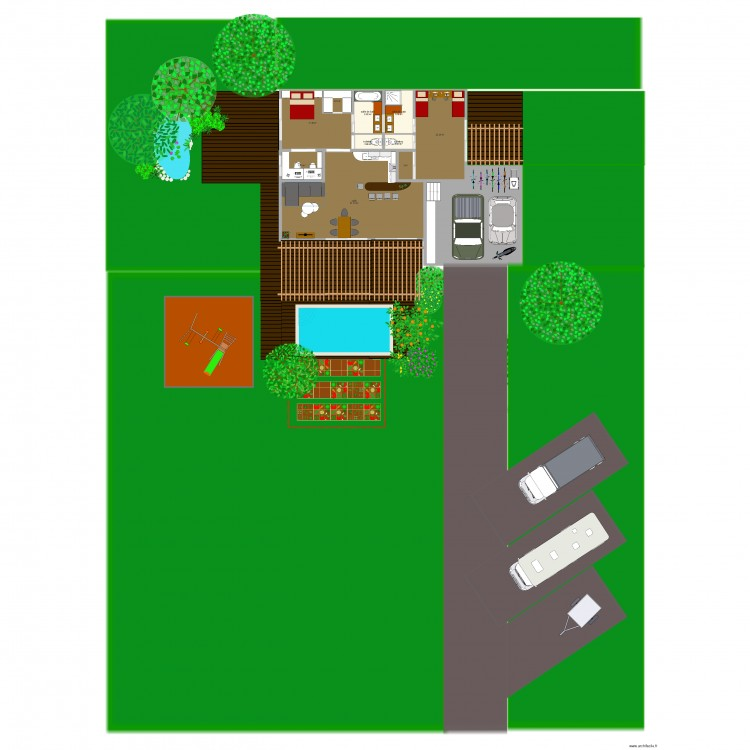 Maison des mes reves plan 11 pi ces 162 m2 dessin par for Mes plans de maison