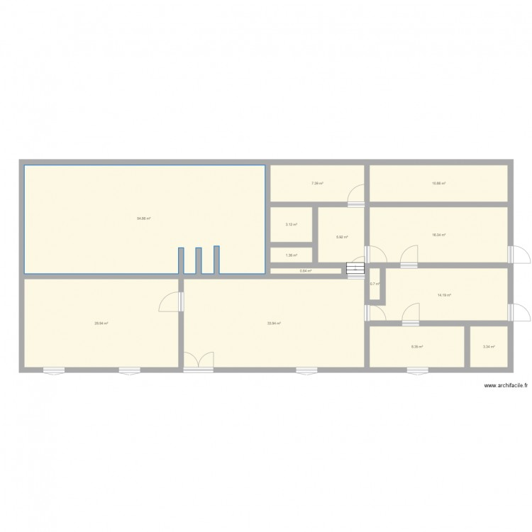 Maison plan 14 pi ces 190 m2 dessin par ocratox for Taille moyenne maison