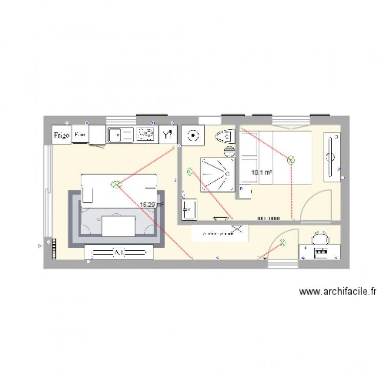 garage plan 2 pi ces 25 m2 dessin par alexisdylan. Black Bedroom Furniture Sets. Home Design Ideas