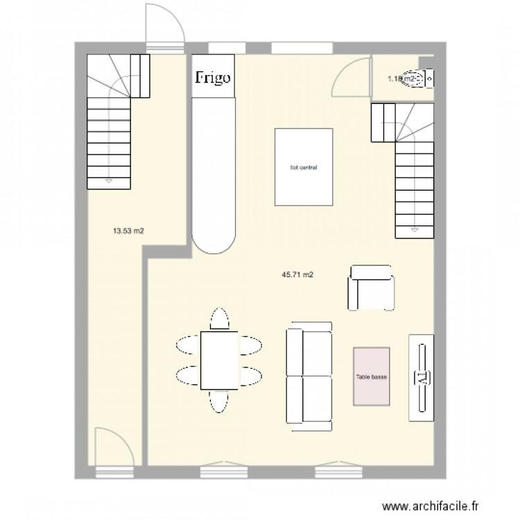 rdc boulangerie maison 1 plan 3 pi ces 60 m2 dessin par tony31600. Black Bedroom Furniture Sets. Home Design Ideas