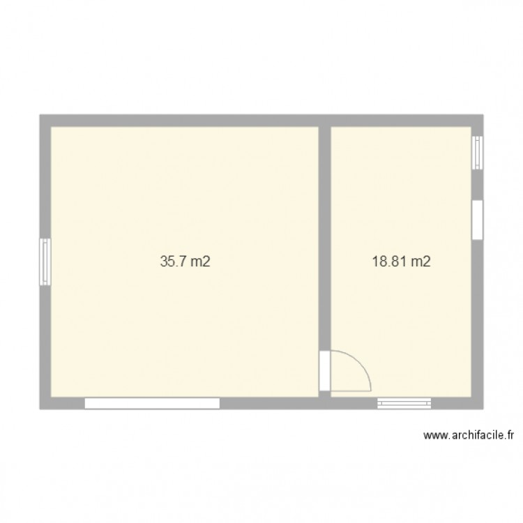 plan garage double 35 avec atelier 18 plan 2 pi ces 55 m2 dessin par fred03. Black Bedroom Furniture Sets. Home Design Ideas