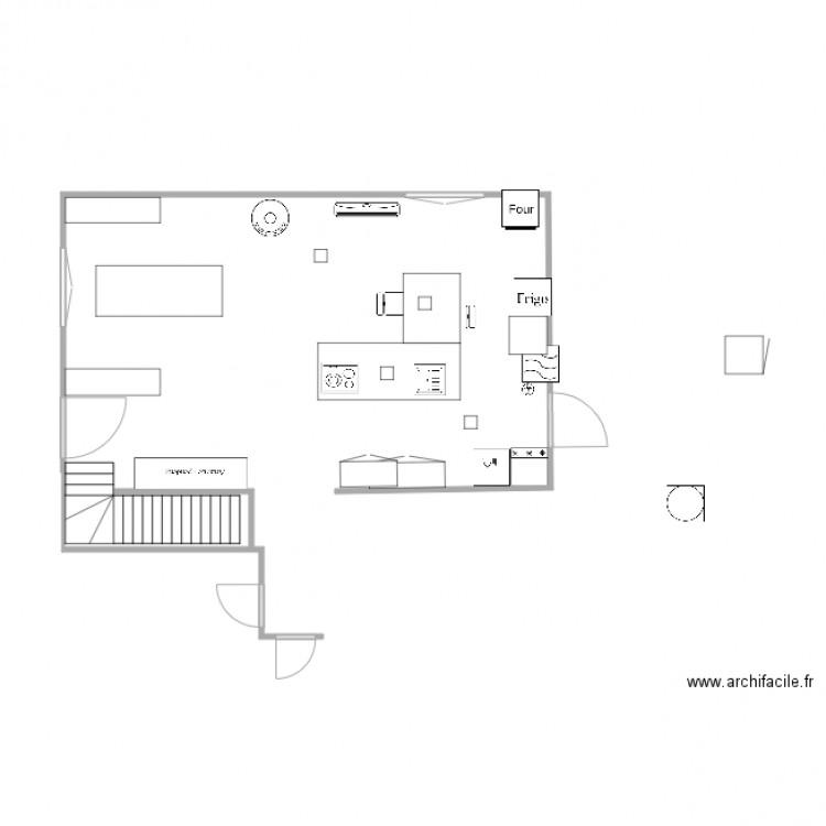 Cuisine corniche plan dessin par anne27 - Construire un plan de travail ...