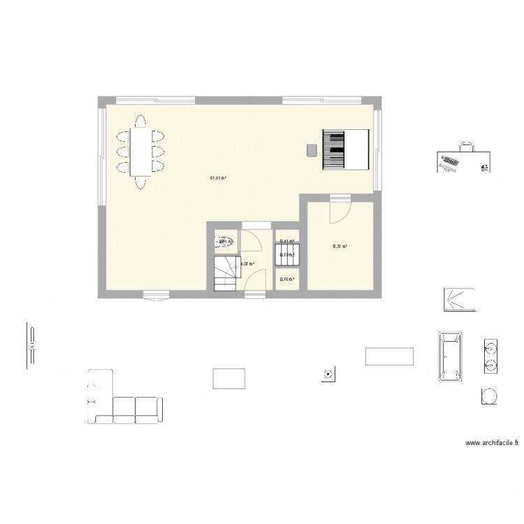 Maison Rectangle Plan 7 Pi Ces 67 M2 Dessin Par Djfab23