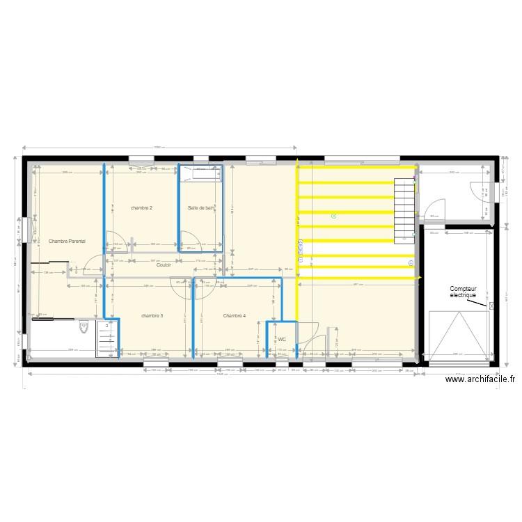 vue de cot droit maison plan 12 pi ces 137 m2 dessin par mimititi. Black Bedroom Furniture Sets. Home Design Ideas
