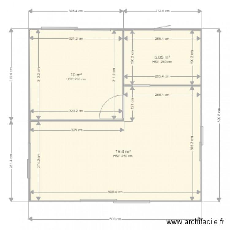 Bungalow Plan 3 Pi Ces 34 M2 Dessin Par Leffy