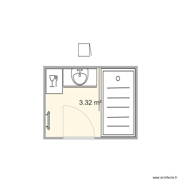 salle de bain plan 1 pi ce 3 m2 dessin par martinejeje. Black Bedroom Furniture Sets. Home Design Ideas