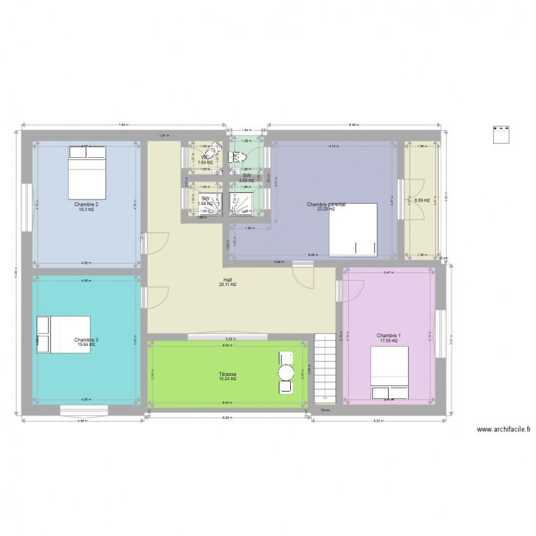 Ma maison plan 10 pi ces 136 m2 dessin par bouis for Dessine ma maison gratuitement