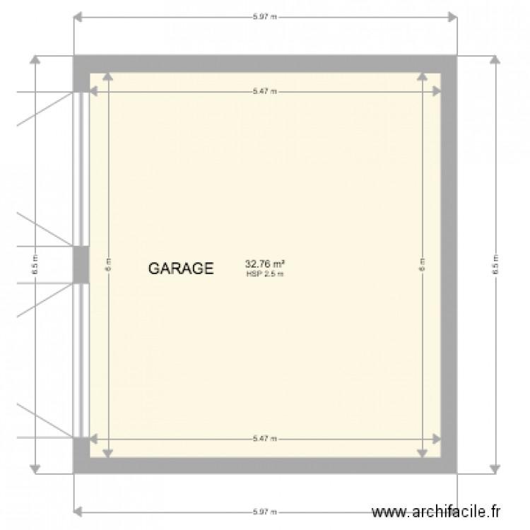 Garage plan 1 pi ce 33 m2 dessin par chilly house for Garage cda chilly