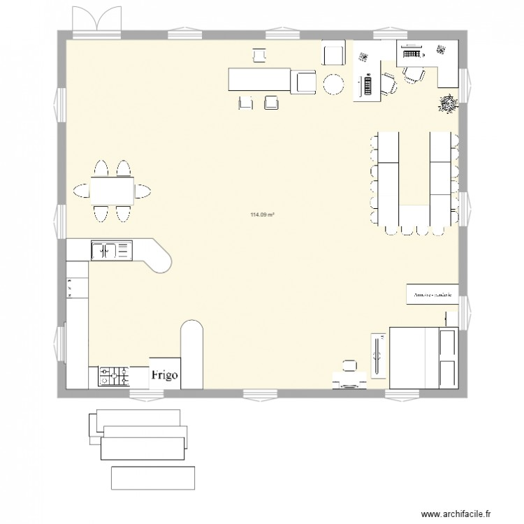Maison Pour Handicapé . Plan De 1 Pièce Et 114 M2