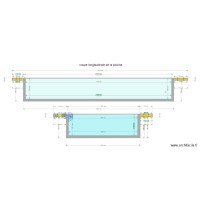 COUPE LONGITUDINALES PISCINE