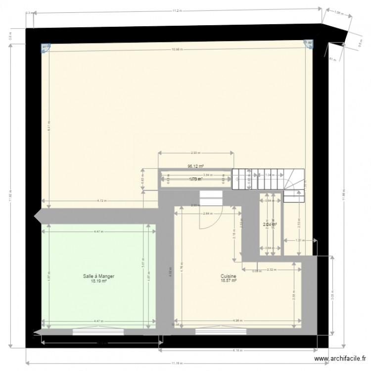 Maison rdc plan 5 pi ces 137 m2 dessin par asse7338 for Plan de maison 5 pieces