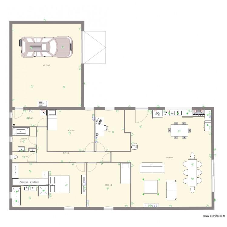 maison electricit plan 10 pi ces 213 m2 dessin par. Black Bedroom Furniture Sets. Home Design Ideas